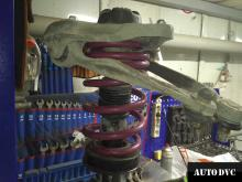 Audi A5 установка передних проставок