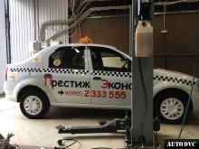 Общий вид Renault Logan I после установки проставок