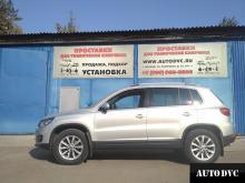 Установка проставок для увеличения клиренса на Volkswagen Tiguan